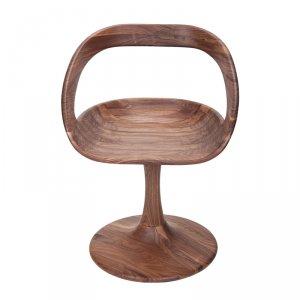 (预售)百格拉维中空背原木椅