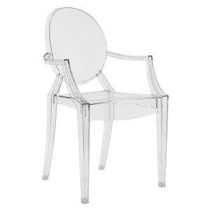 (预售)透明路易扶手椅