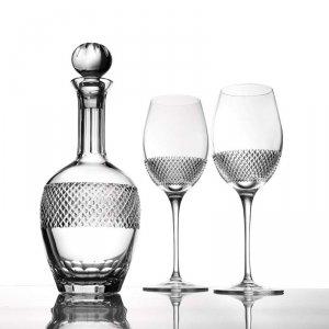 John网格花纹水晶葡萄酒酒具套装
